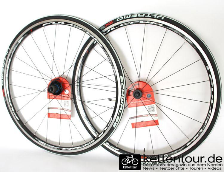 Fundstück in der eBucht - Laufradsatz Fulcrum Racing7 mit Schwalbe UltremoZX