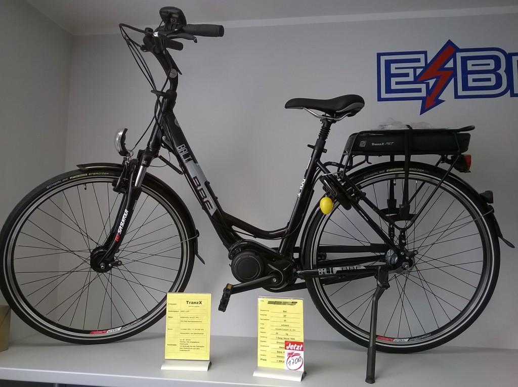 eBike - Cityrad mit Mittelmotor - oft sind Vorjahresmodelle im Fachhandel reduziert erhältlich.