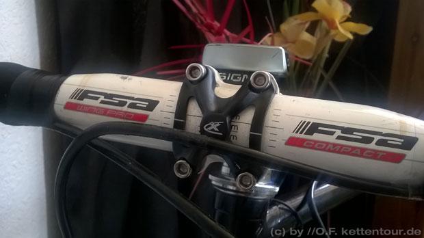 FSA Wing Pro Compact - montiert und optimal ergonomisch eingestellt.