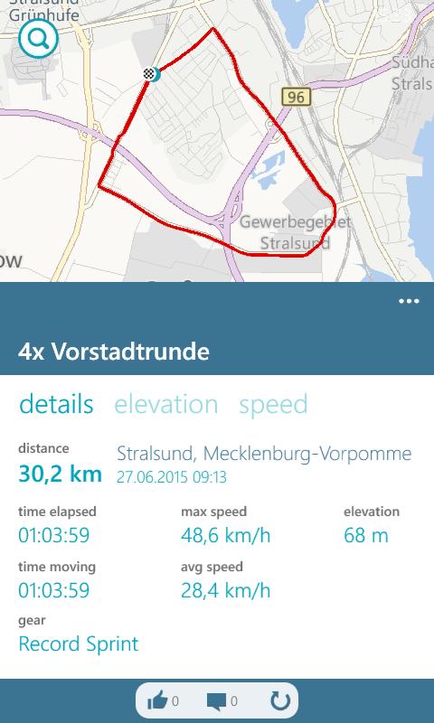 Radtraining Vorstadtrunde(n) in Stralsund