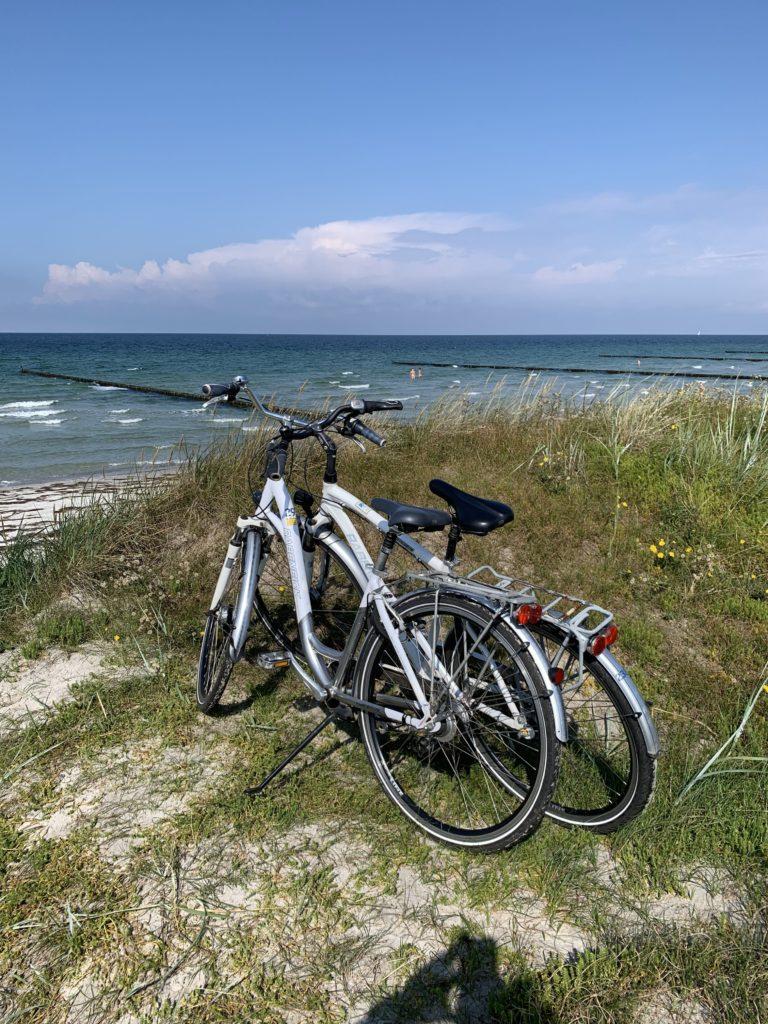 Die Leihräder auf Hiddensee