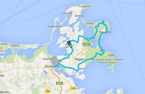 Die Königsstrecke in der Region - Rügenrunde 142km